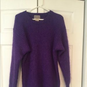 Purple mohair mixed with sweater vintage